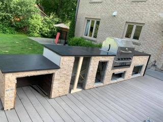 Countertop-grill granite black