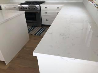White countertop table