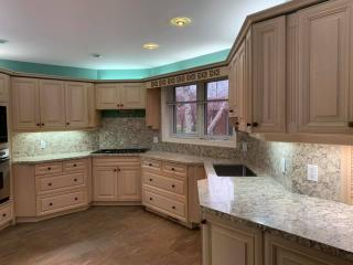 White kitchen countertop