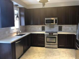 dark brown kitchen countertop
