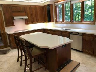 white countertop marble window kitchen
