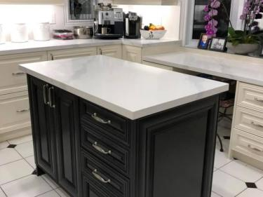 white granite countertop table center